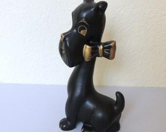 Black Scotty Dog Figurine by Ries Japan
