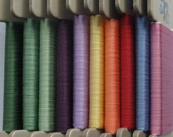 Floral Garden Plains Collection No. 2 - 4mm silk ribbon