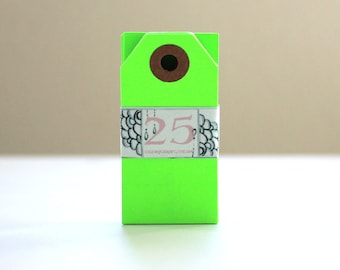 Blank Gift Tags - Mini - set of 25 in Neon Green