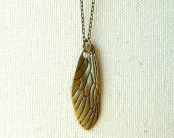 Cicada wing necklace insect wing jewelry cicada jewelry dragonfly wing locust