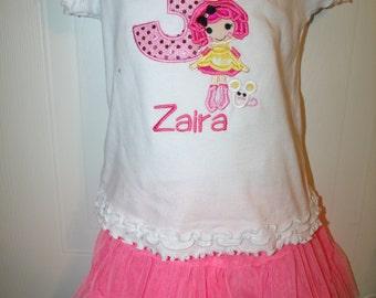 Lalaloopsy Sugar Crumb Doll Embroidered Onesie Shirt
