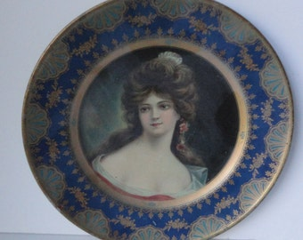 Antique Dresden Art Plate No. 208. Marianne. Advertising. 1907 The Meek Company
