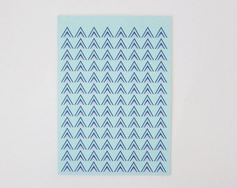 Triangles and Chevron Print Greeting Card
