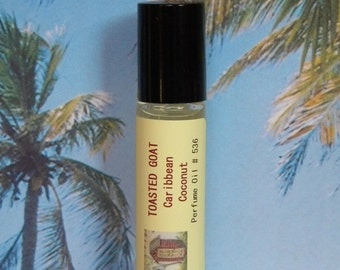 TOASTED GOAT Caribbean Coconut Perfume Oil  - Natural Cologne Oil - Coconut Cologne Oil