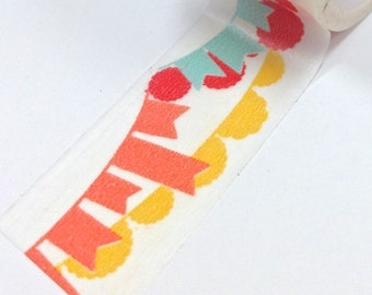 Washi Tape - 20mm - Tropical Color Bunting - Deco Paper Tape No. 880