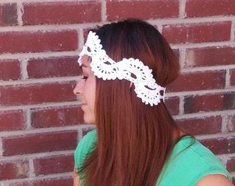 CROCHET PATTERN PDF - Boho Lace Crochet Headband - Women's headband - Teen fashion . instant download, yarntwisted