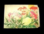 Japanese Vintage Print - Flower Print - Vintage Magazine Insert - Magazine Cut Out - Japanese Print - Magazine Page -