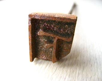 Vintage Japanese Yakiin Branding Iron Under Underneath Below Down S204