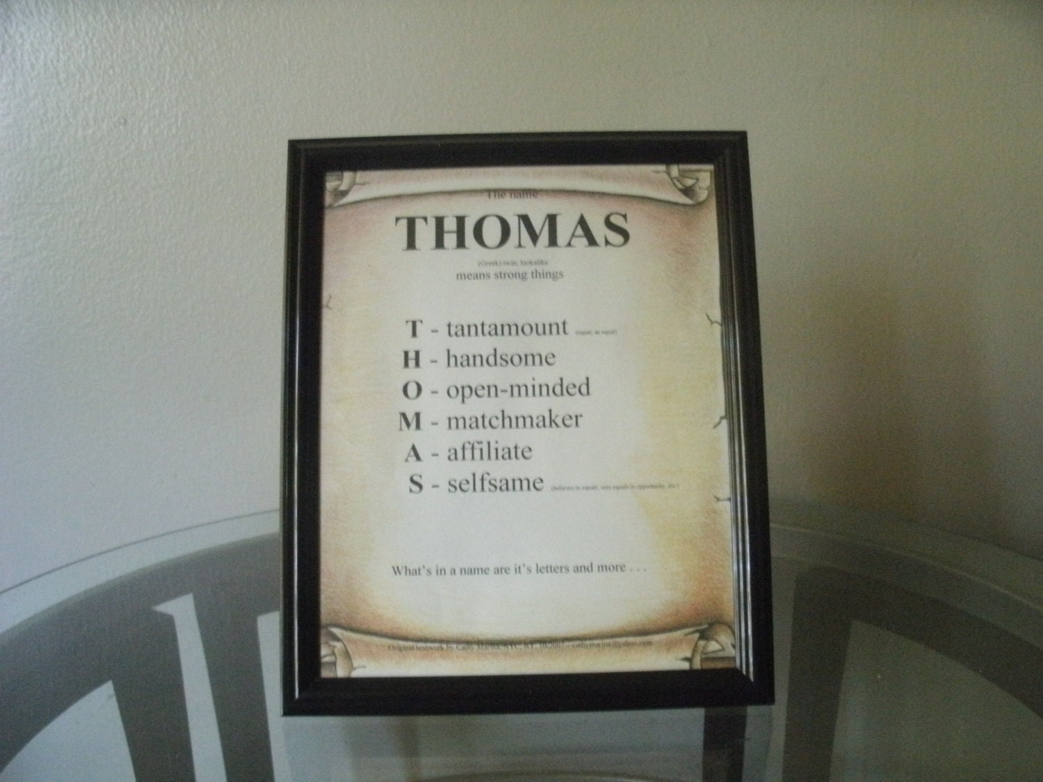 Thomas name meaning personalize framed novelty wall decor for Decor meaning