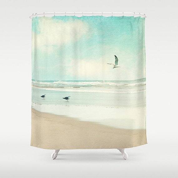 Ocean Shower Curtain Beach Aqua Home Decor