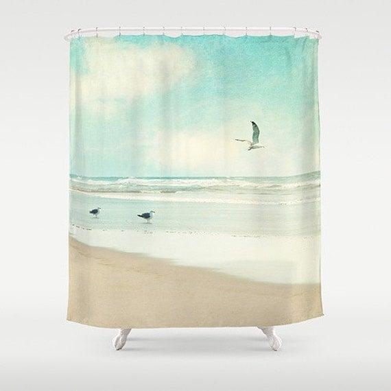Ocean Shower Curtain, beach, aqua home decor, turquoise,pastel ...