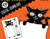 Cat Note Paper - Printable Note paper and graphics for your personal use -5 Images-