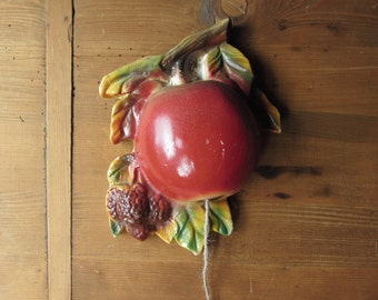 Delightful Vintage String Holder - Big Red Apple
