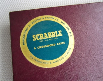 Vintage 1953 Scrabble Game Complete Tiles