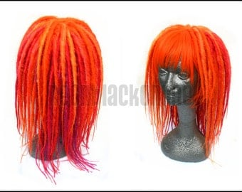 Fruit salad orange and pink dread wig - dreadlock wig - synthetic dread wig
