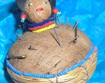 Antique Beaded Pincushion...............RU1