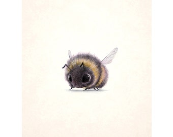 Bumblebee 8x10 signed print on felted paper