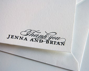 Letterpress Personalized Stationery - Custom Letterpress - 1 color