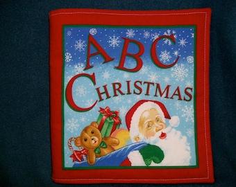 Children's Soft Fabric Book,  ABC Christmas, Quiet Book