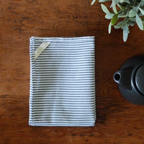 dish towel tea towel grey striped cotton. Black Bedroom Furniture Sets. Home Design Ideas