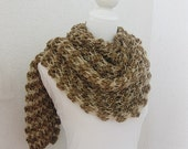 Women Scarf, Shawl , Neckwarmer in ,Asparagus, light brown, caramel, camel, Olivine, Shawl, Neckwarmer