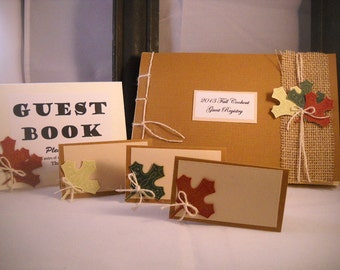 Guest Book Album Fall Leaf - Made to Order