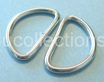 25 Pieces 1.5 inch Dee Rings For Webbing Strapping Metal D Rings H141