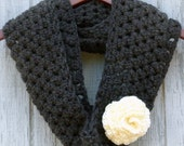 Graphite and Rose Infinity Scarf - PDF Crochet Pattern - Instant Download