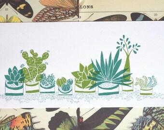 Succulent and Cactus Screen Print