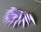 Lavender // Purple // Polymer Clay Spike Statement Necklace (Petite Version)