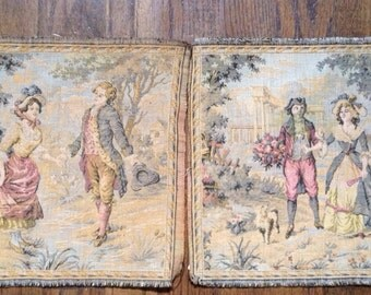 Pair of French tapestry panels