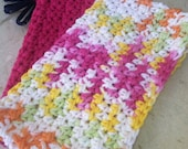 Dish/Facial Cloths.....Spring Colors Hot Pink and Multi