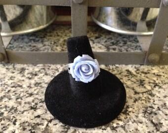 Lavender Rose Cabochon Ring