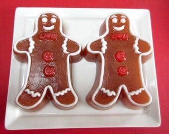 Gingerbread Man Soap -  Christmas Soap, Soap Party Favors, Soap for Kids, Dessert Soap, Novelty Soap, Teacher Gifts, Gingerbread Soap
