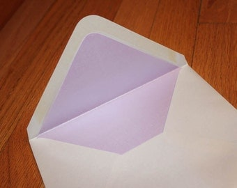 A7.5 Outer Envelope Liners in Metallic Stardream Kunzite / Lilac / Lavender / Purple - Set of 20