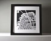 Brooklyn hand cut map, 10x10