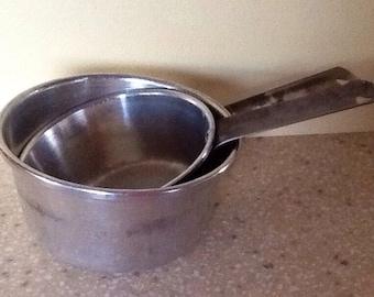 Set of 2 Priscilla Ware Aluminum Pots