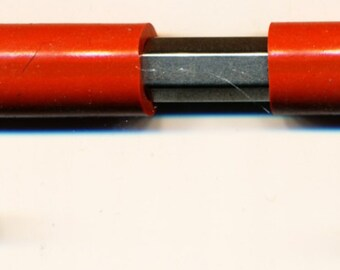 Printmaking Scrimshaw scribe stainless steel tool handle, two (2) ends, for close work red, CoulterPrecision