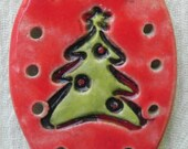 Ceramic Centers Bases for Pine Needle Baskets / Ornaments - Christmas Tree