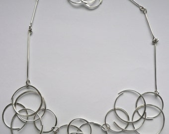 Handmade Sterling Silver Modern Link Necklace