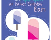 Popsicle Pool Party - Printable 8x10 Sign - Customized with Child's Name