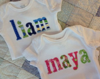 Personalized Baby Gift- Infant Name Shirt-Great for Boys or Girls
