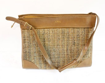Vintage Hartmann Luggage Tweed Tote Overnight Carry-On Bag