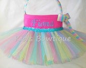Easter Basket Tutu Bag- Personalized Tutu Easter Basket -Monogrammed Easter Egg Hunt basket bag