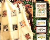 Lodge Look Wildlife Wolf Fish Mountain PineTree Afghan Towels Pictures Forest Counted Cross Stitch Embroidery Craft Pattern Leaflet 3643