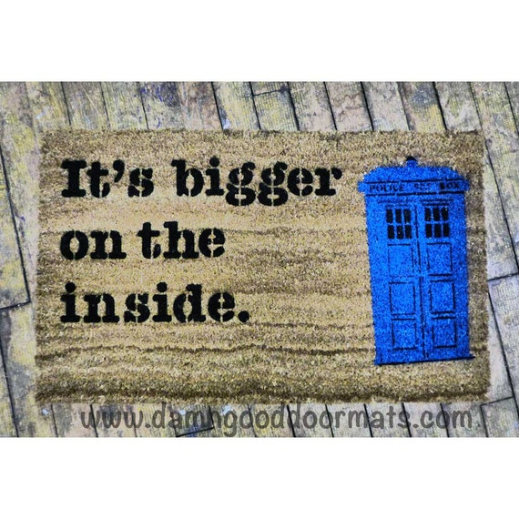 Bigger On The Inside Police Box Doormat Funny By