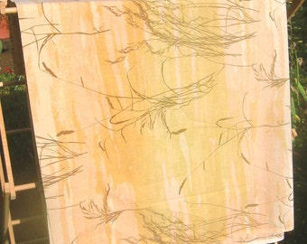 Vera Dune Grass sheet, golden Beach Grasses design, TWIN size FLAT
