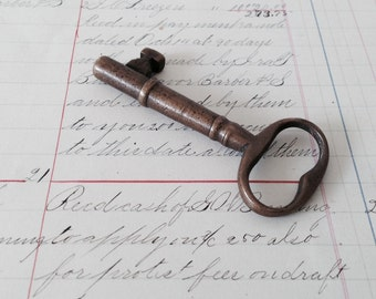 Antique Brass Skeleton Key - Perfect Patina - Great for Jewelry, Altered Art
