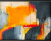 Beginning of Something New - 30 x 40 - Abstract Acrylic Painting - Huge Contemporary Wall Art - Modern Original