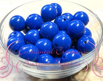20mm Royal Blue Solid Acylic Beads Qty 10